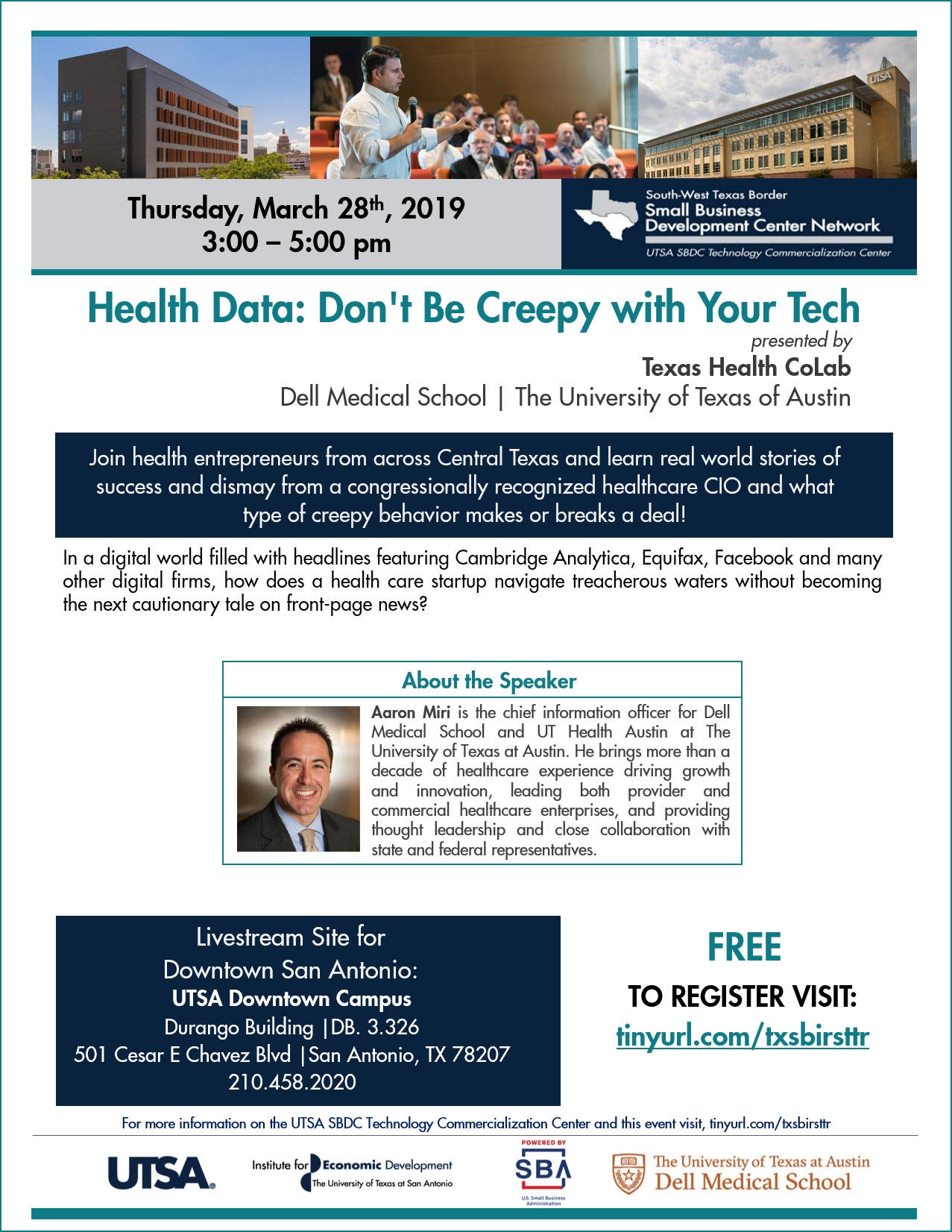 dell texas health colab March 2019 webinar flyer