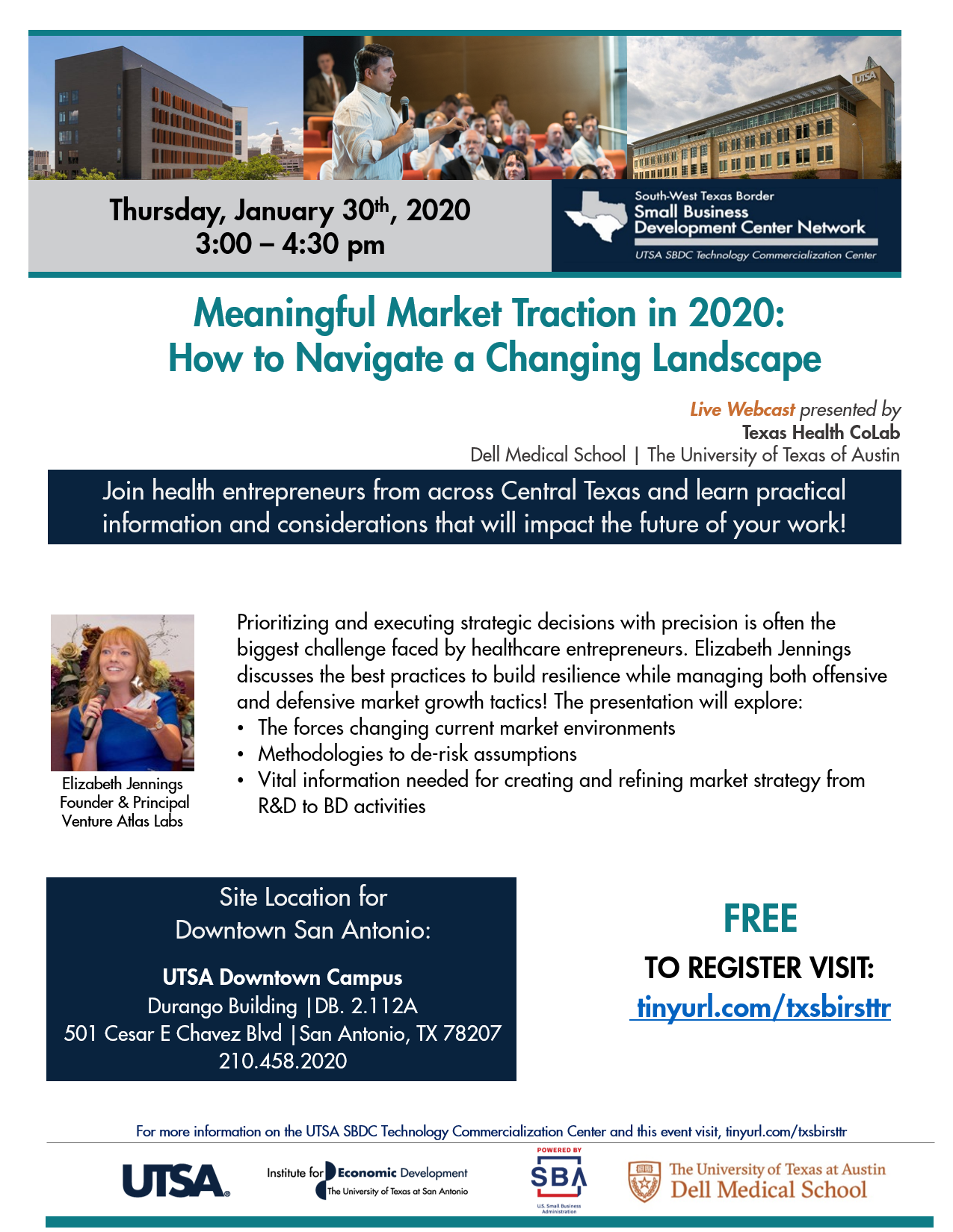 dell texas health colab Jan 2020 CORRECTED webinar flyer